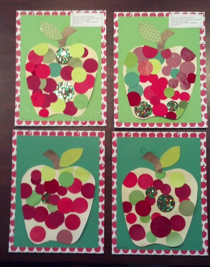 Apple circle collage
