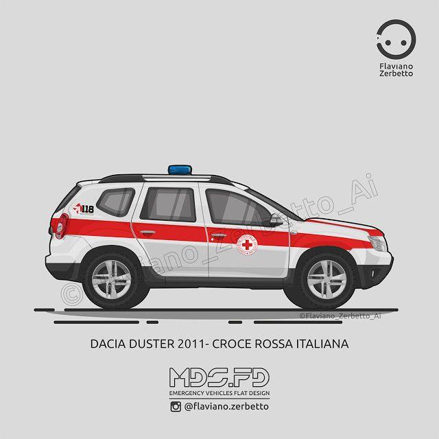 KombiT1: Dacia Duster 2011 - Croce Rossa Italiana
