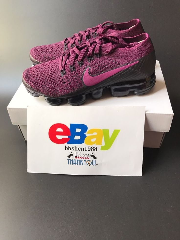Nike Air Max VaporMax Flyknit Women 849557-605 Bordeaux Tea Berry