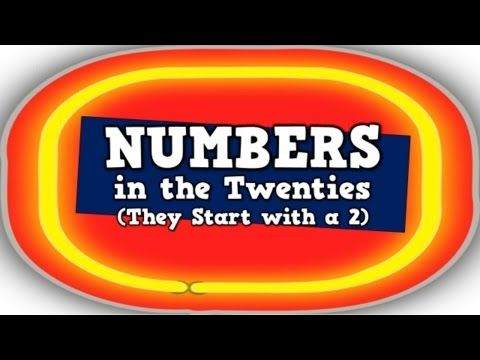 """YouTube video for teaching """"the twenties!"""" Numbers in the Twenties (They Start with a 2!) - YouTube"""