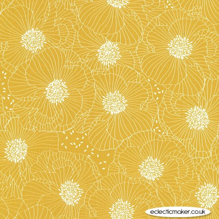Michael Miller Fabrics Joy Full Bloom in Daisy - Michael Miller fabric for patchwork, quilting and dressmaking