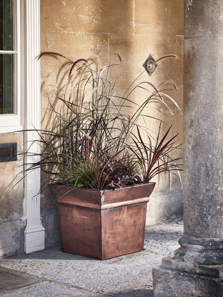 Please note this product is currently out of stock. This planter will be returning to stock in May. Please enter your email address below to receive an instock email notification.  Generous in size, with a wide, square brim, each of our copper toned planters has a unique finish that will weather with age, adding to its rustic appearance. Perfect for those wishing for a planting solution that complements a natural botanical look, it allows you to organise your favourite blooms without…