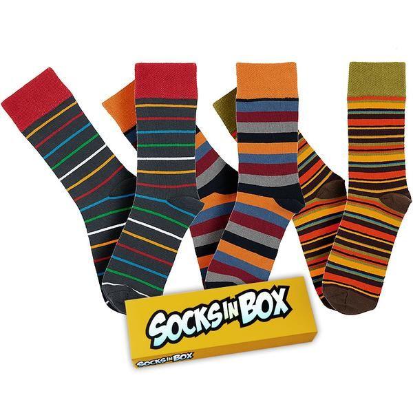 SocksInBox Nature, to jsou proužky všeho druhu v přírodních barvách. Velikosti 41-45 a 46-48