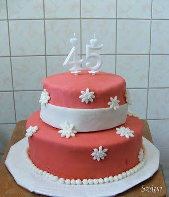 Terracotta colour birthday cake