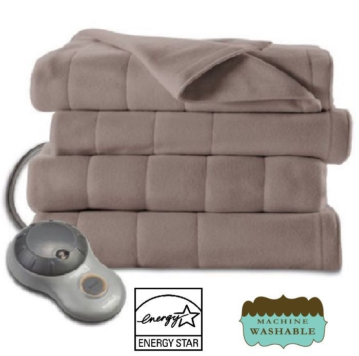 Electric Blanket 5 Heat Settings Heated Fleece Throw Lap Auto Shut-Off Warm Home #Blanket #BritishColonial