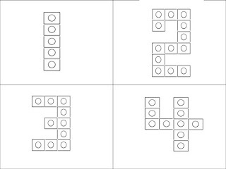 Free! making numbers using snap cubes!
