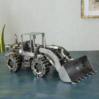 Williston Forge Bernardino Upcycled Auto Parts Rustic Payloader