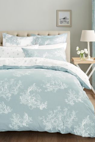 Freshen up your bedroom with these luxurious duck egg toile bed sets!