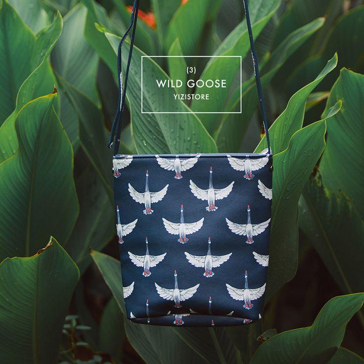 """YIZI novel PU bucket messenger bags for girls in """"Birds In Your Bag"""" series(FUN KIK)"""