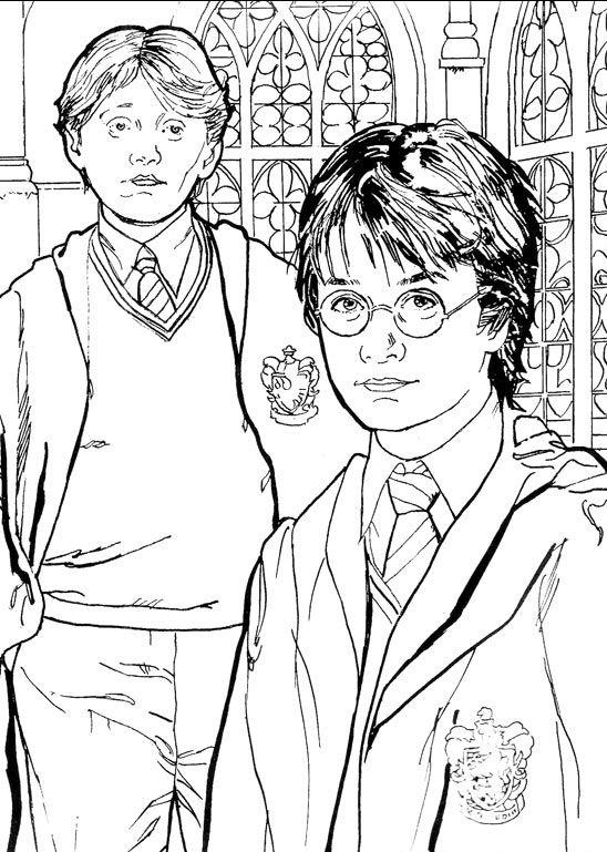 8 besten Harry potter Bilder auf Pinterest | Malbücher, Malvorlagen ...