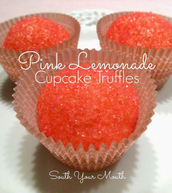 South Your Mouth: Pink Lemonade Cupcake Truffles