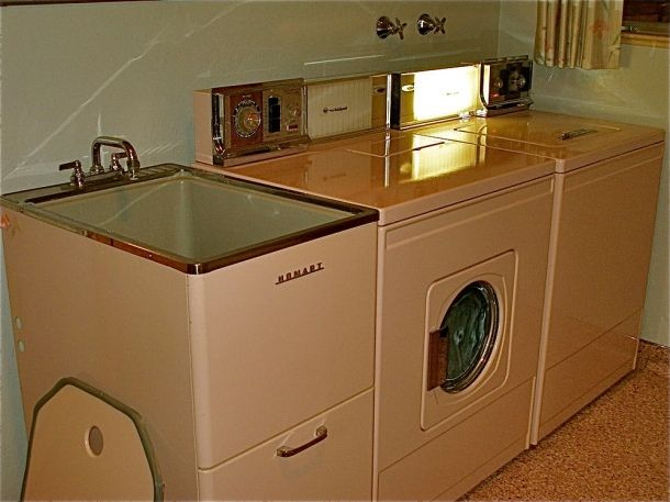 Whirlpool Washer And Dryer With Matching Utility Sink In