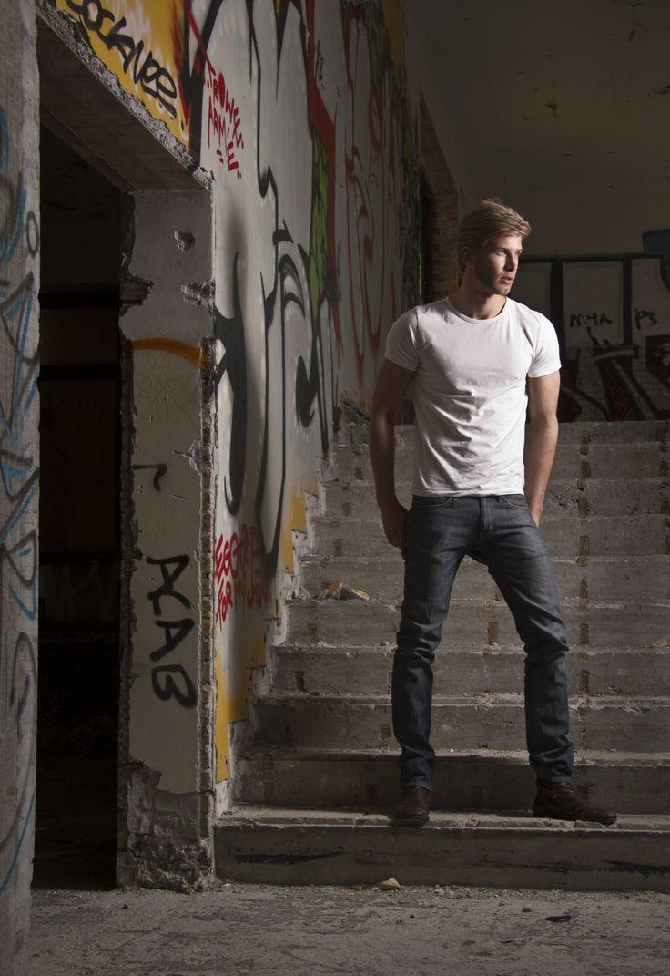 Christopher Blom by Paul van der Linde (2011) #ChristopherBlom #PaulVanDerLinde #model #malemodel #Danish #UniqueModels #graffiti
