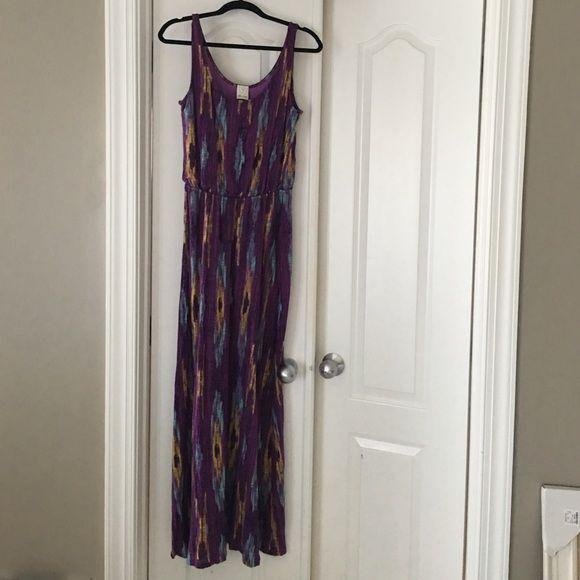 Ella Moss purple IKAT maxi dress Great maxi dress for the summer. Knit with lining. Ella Moss Dresses Maxi