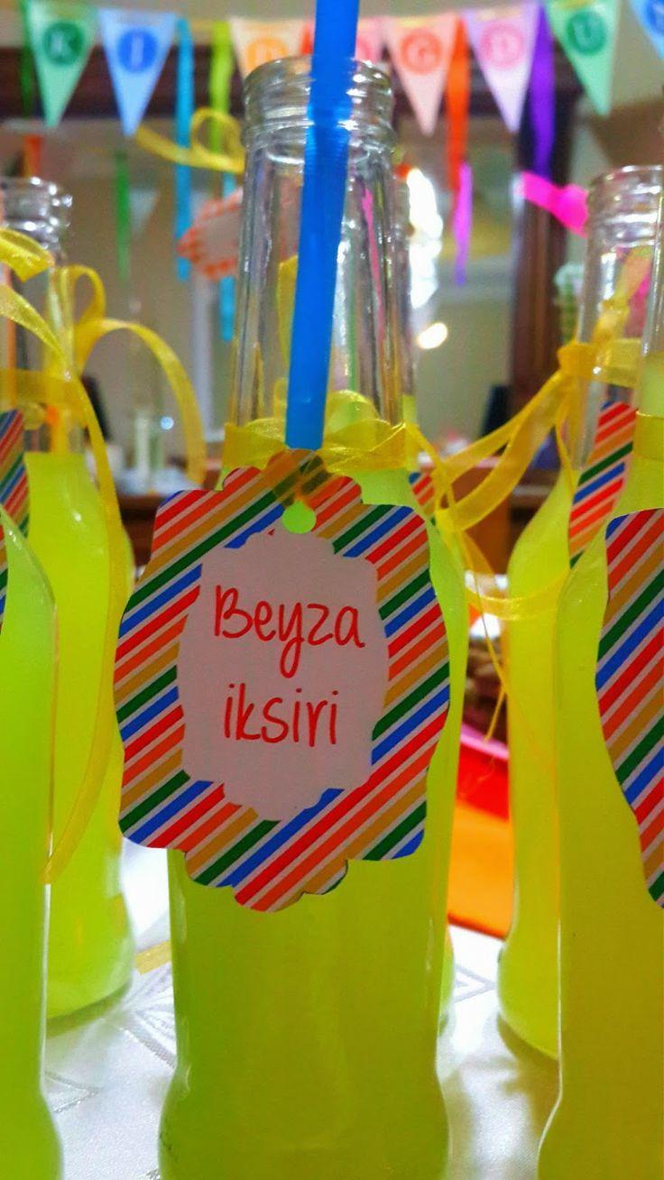 BENS TASARIM: Gökkuşağı Renklerinde Doğumgünü Partisi Dekorasyonu