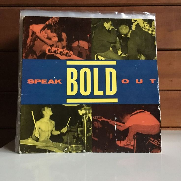BOLD Speak Out LP 1988 Revelation 9 US PRESSING single sleeve w/insert NYHC #HardRockPunkNewWave