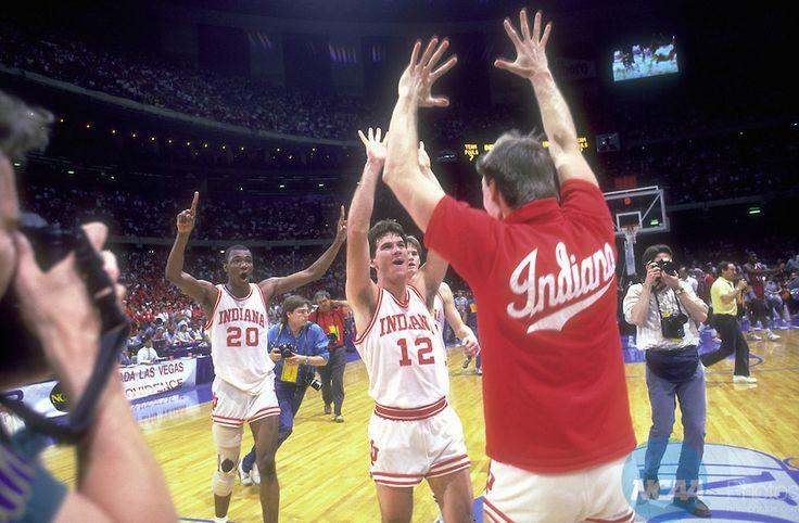 Rick Calloway, Steve Alford and Teammate - Indiana
