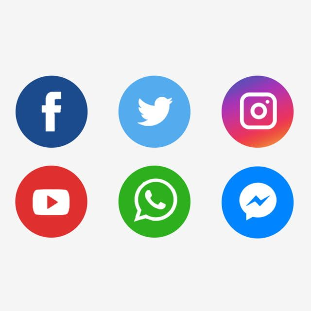 Social Media Icons Social Media Social Media Logo Social Media Icon Set Png Transparent Clipart Image And Psd File For Free Download In 2020 Social Media Logos Social Media Icons Free
