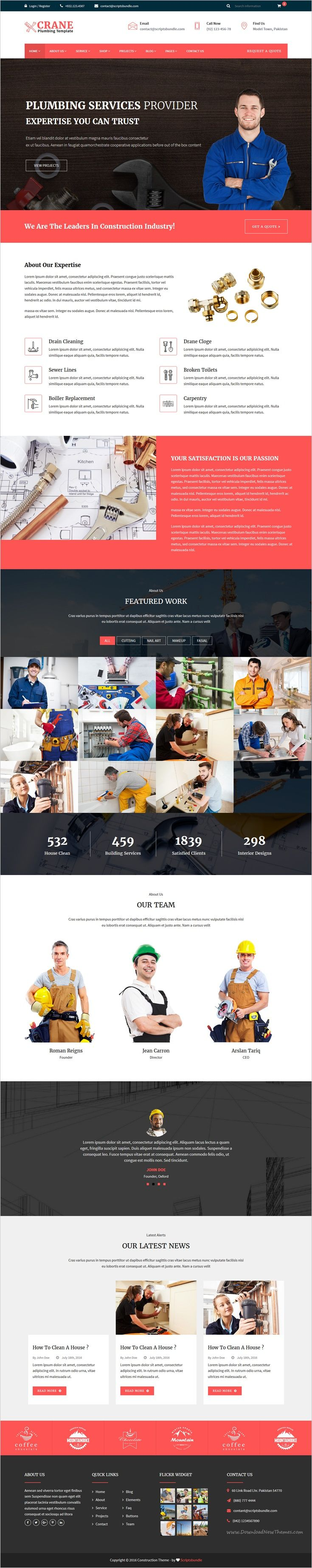 14 best plumbing landing page design images on Pinterest ...