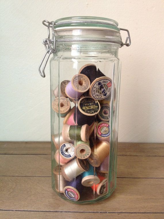 Tall Glass Canister - LIdded - Jar - Storage - Container - Wedding
