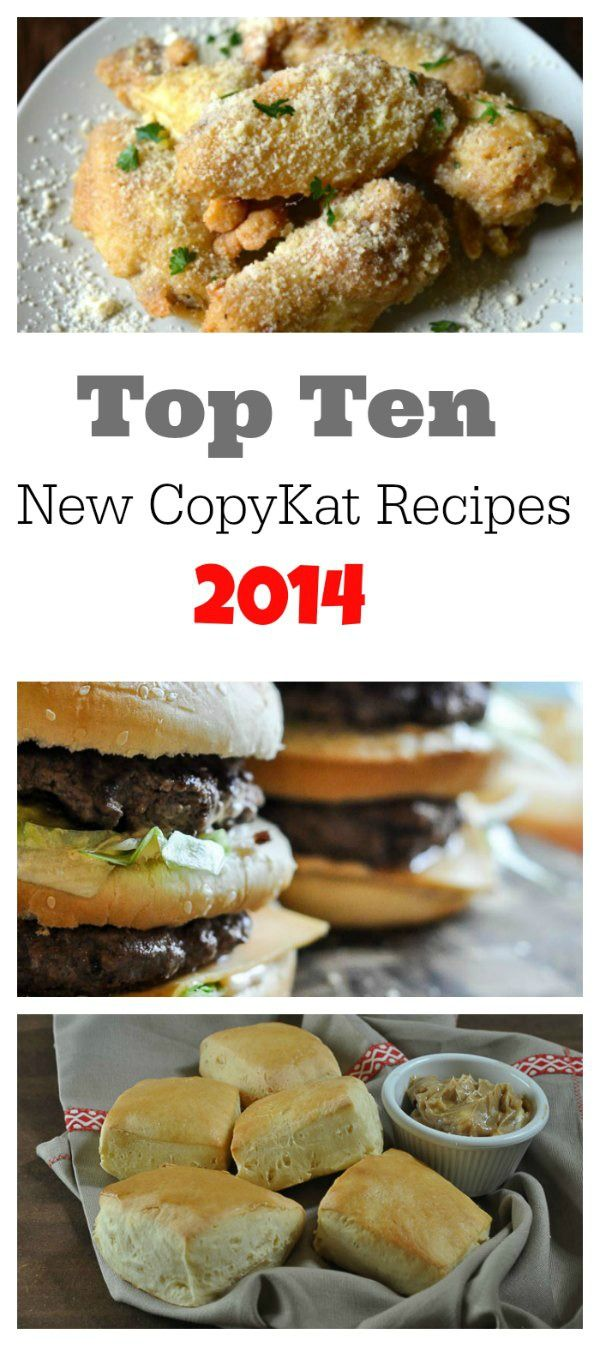 Big Macs, Wingstop Garlic Parmesan Wings, and Texas Roadhouse Rolls are just a few of the most popular recipes in 2014 at CopyKat.com, check out the remaining top ten copycat recipes.