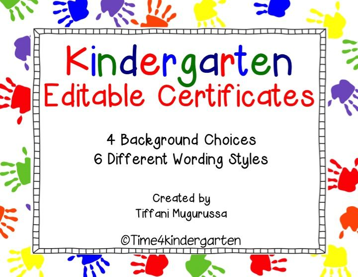 8 best kindergarten certificates images on pinterest classroom kindergarten certificates completion diploma editable yelopaper Choice Image