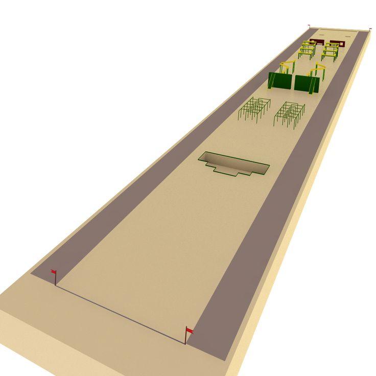 Общевойсковая полоса препятствий 100 м