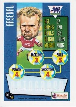 1996-97 Merlin's Premier League #1 Dennis Bergkamp Back