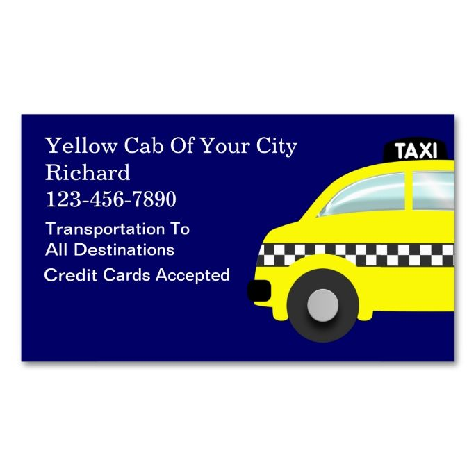 2018 best images about limo taxi business cards on for Taxi business card template