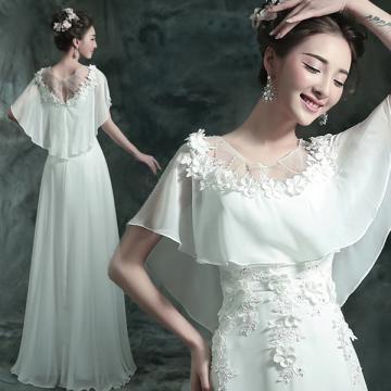 Vlečka na zem Šifón Elegantní & moderní Svatební šaty 2016