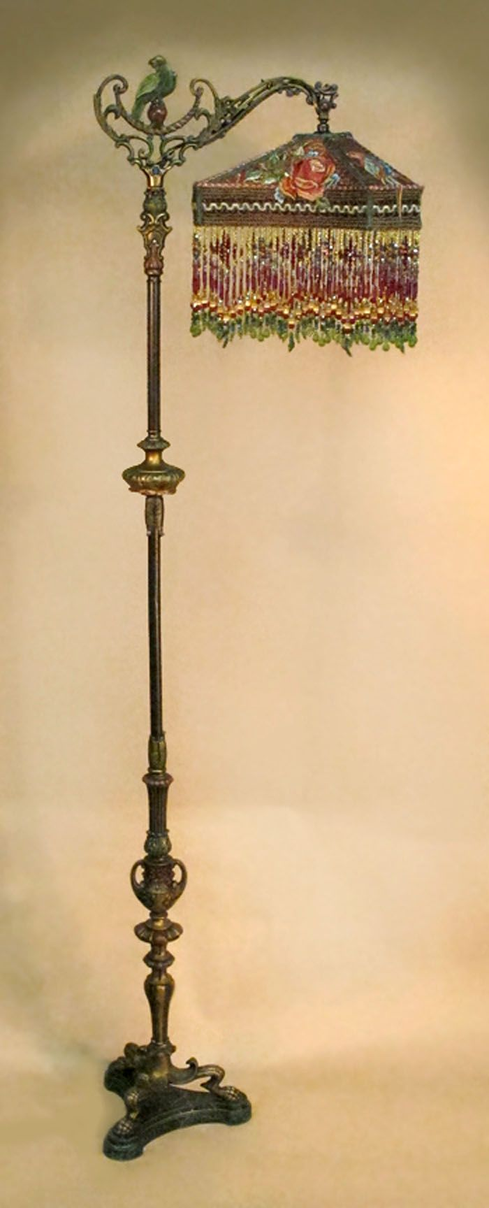 Beaded Floor Lamps: Victorian Beaded Floor Lamp | with one-of-a-kind beaded victorian lamp,Lighting