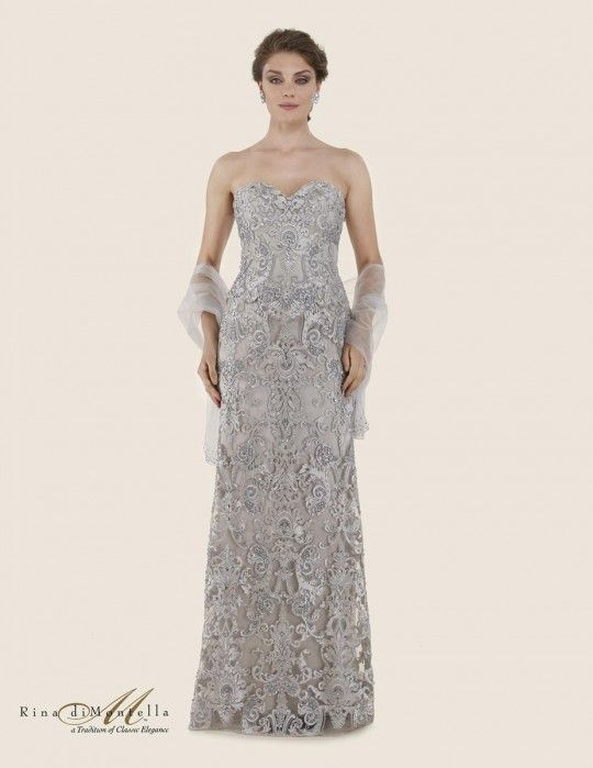 78a23f19aab Rina Di Montella 2624 Lace Mother of the Bride Dress
