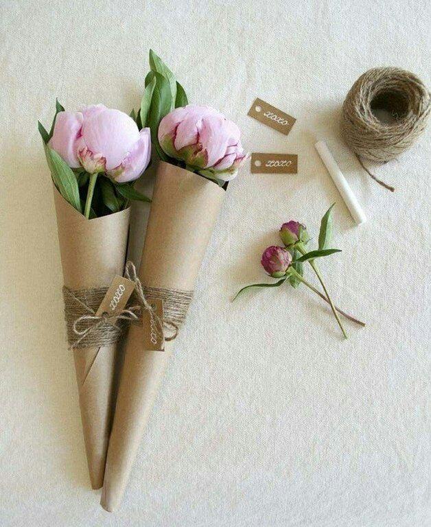 Идея упаковки пионов и роз / Цветы, вазы и цветочные горшки / ВТОРАЯ УЛИЦА