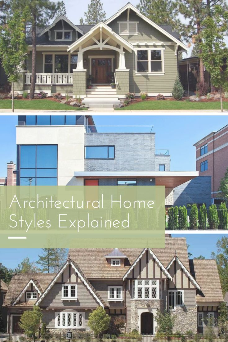 Craftsman, modern, tudor and more. Learn about all the different styles of homes out there.
