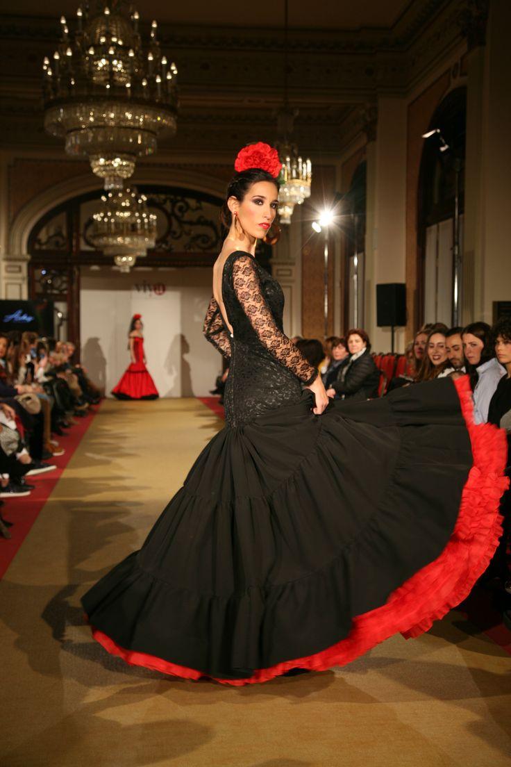 Aches https://m.facebook.com/achesdesign/ vestido flamenca negro we love flamenco 2017