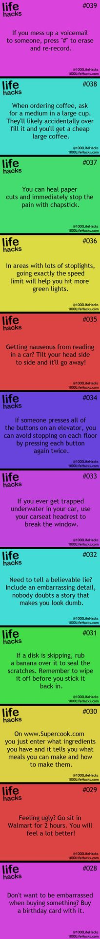 Useful Life Hacks