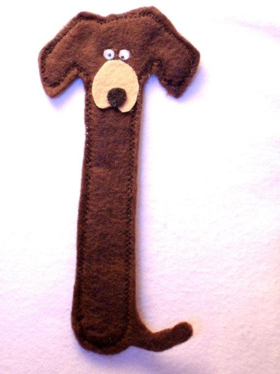 felt dachshund bookmark felt bookmark dog by TheKraftieKat, $5.00