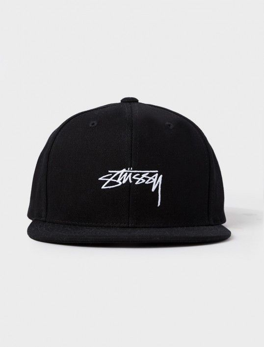 Classic structured snapback featuring stock script embroidery on the solid crown. Constructed from 100% premium cotton. Imported. OSFM.