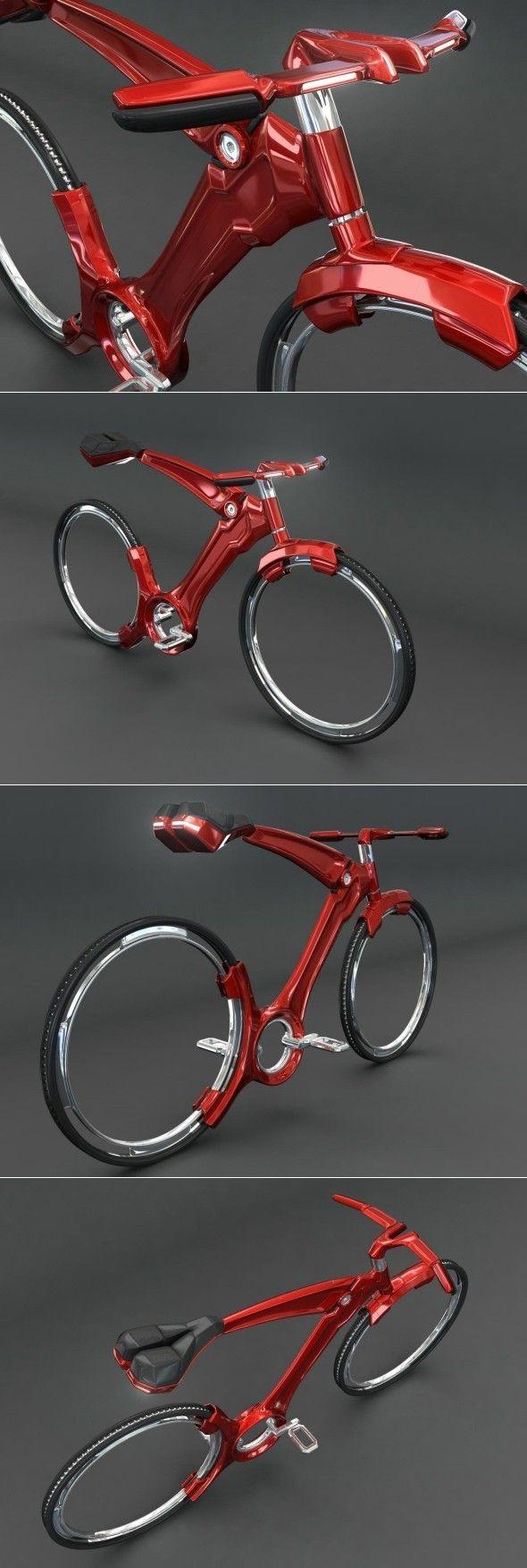 Vélo futuriste par John Villarreal Un aperçu de l'avenir et des matériaux de …