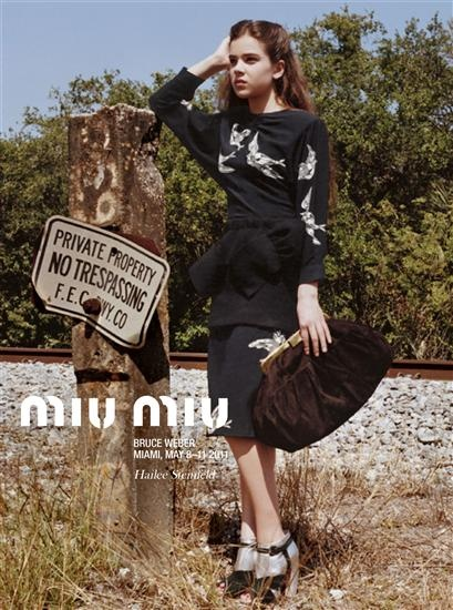Hailee Steinfeld for Miu Miu Autumn/Winter 2011 Ad Campaign. Shot by Bruce Weber, styled by Joe McKenna