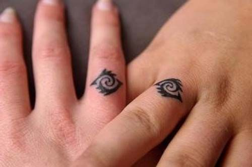 wedding rin couple tattoo yüzük parmağı sevgili dövmeleri