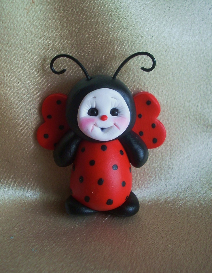 pin pins ladybug handcrafted sculpture figurine gift by clayqts
