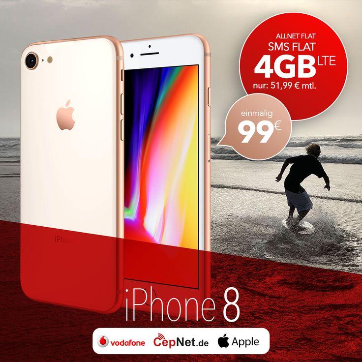 🤙😎 iPhone 8 wartet auf Dich! 🤳  🔥🔥🔥Apple iPhone 8 64GB mit günstigem Vodafone Smart XL Smartphone 10 Vertrag.  👉👉 https://www.cepnet.de/smartphones/apple/iphone-8/64gb-space-grau/vodafone/smart-xl-smartphone-10/?utm_source=sosyal_facebook&utm_medium=iphone8&utm_campaign=cepnet_tutus  ✅Telefonie-Flat* in alle dt. Handy-Netze  ✅Telefonie-Flat* ins dt. Festnetz  ✅SMS-Flat* in alle dt. Handy-Netze  ✅Internet-Flat* 4 GB (LTE) mit bis zu 500 Mbit/s (danach Drosselung auf 32 kbit/s)…