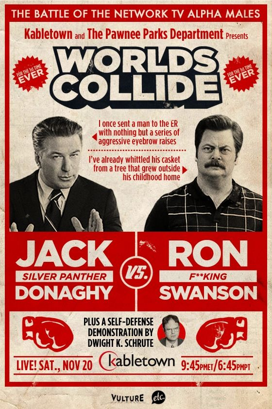 "The Battle of the Network TV Alpha Males: Jack ""Silver Panther"" Donaghy vs. Ron F**king Swanson"