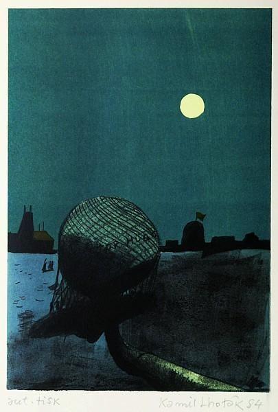 Kamil Lhoták (1912 - 1990) - Baloon - lithography, 35,8 x 24,6 cm, sign. RD Kamil [...], Vente 145 : Art Moderne et Contemporain à Vltavin - Aukcni Sin Vltavin, s r. o. | Auction.fr