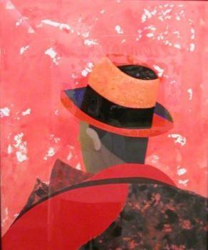 """Eduardo Arroyo """"Faust""""  gouache sur papier, 77.5 x 57 cm, 1975"""