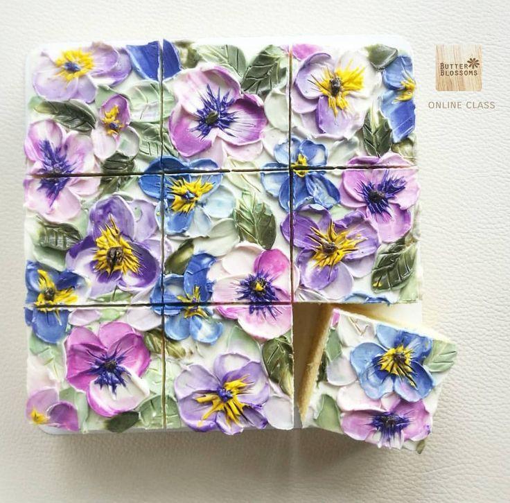 Verzierter Kuchen – Kuchen – Buttercremebilder – #Blechkuchen #Buttercreme …   – Blechkuchen