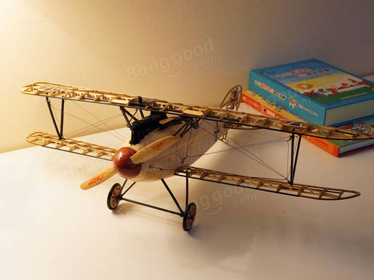 Albatross D.III German Fighter 492mm Balsa Wood Airplane Handicrafts Complete Version