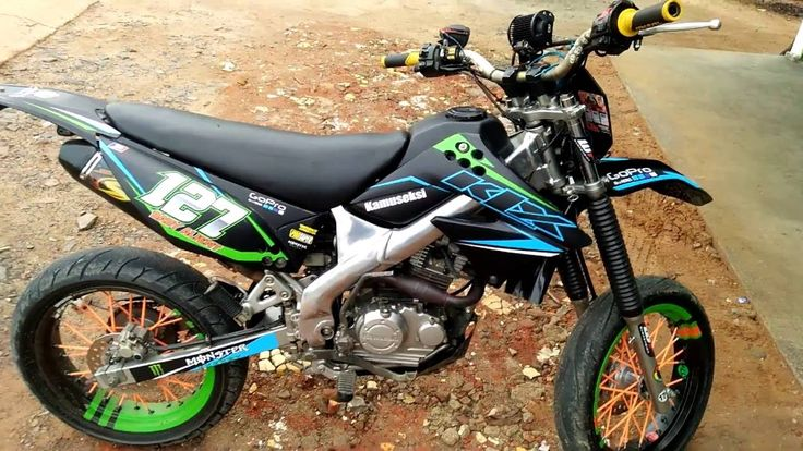 kawasaki KLX 150 supermoto modification - hear the sound SND racing exhaust