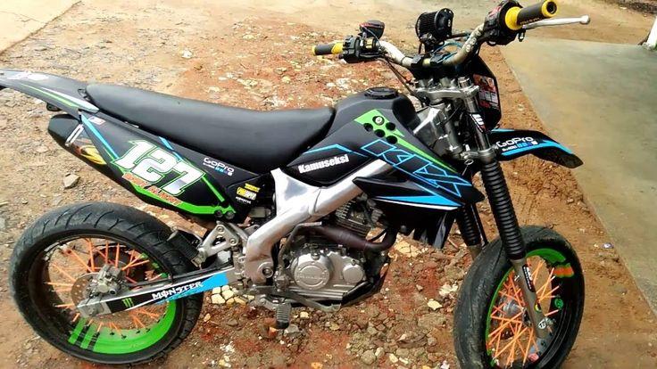 kawasaki KLX 150 supermoto modification - hear the sound SND racing exhaust